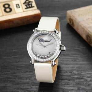 2015 美品!  CHOPARD ショパール ダイヤベゼル 女性用腕時計 3色可選