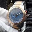 大人気☆NEW!! 2016 BVLGARI ブルガリ 男性用腕時計 クオーツ ムーブメント 4色可選