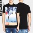DSQUARED2 ディースクエアード 2017春夏 半袖Tシャツ 3色可選 売れ筋のいい