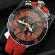 ガガミラノ時計 GaGa MILANO 腕時計 クロノ48MM ウォッチ GAG60543BKRBKA 時計 日付表示 夜光効果 メンズ 男性用腕時計 ブラック レッド