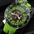 ガガミラノ メンズ 時計 GaGa MILANO クロノ48MM  腕時計 ウォッチ ブラック グリーン GAG60542LGRRBKA 日付表示 夜光効果 メンズ 男性用腕時計