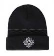品質保証低価CHROME HEARTS クロムハーツ ニット帽 ブラック CHクロスロゴ 2238-304-4100 無地 コットン 男女兼用