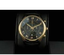 OMEGA オメガ スーパー コピー 時計 デ・ヴィル De Ville 半自動卷 赤字超特価大人気 2針  メンズ腕時計 ブラック ゴールド レザー
