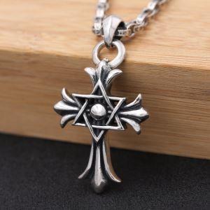 新作入荷定番CHROME HEARTS クロムハーツ ペンダント クロス 十字架 華奢 シンプル ペンダントトップ シルバー925