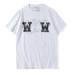 春夏品質保証低価OFF-WHITE オフホワイト 通販 バックプリント ゆるシルエット オーバーサイズ Tシャツ 半袖 2色可選