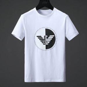 春夏激安大特価低価通気性良いARMANIアルマーニ tシャツ メンズインナートップスカジュアルロゴプリント半袖2色可選