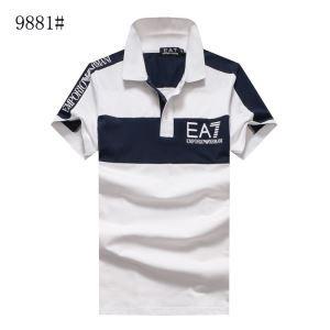 春夏お赤字超特価格安ARMANIアルマーニ ポロシャツ メンズ切替配色カジュアルシャツ大きいサイズ半袖3色可選
