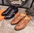 2018お買い得新品HERMEエルメス コピービジネスシューズメンズ靴軽量脚長効果紳士オシャレ革靴2色可選