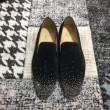 激安大特価安いChristian Louboutinクリスチャン ルブタン コピーDandelion Degra Flatローファー革靴1180352CM47