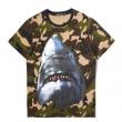 驚きの低価格GIVENCHYジバンシー Tシャツ コピーBM70493Y0H-001シャークプリントオーバーサイズクルーネックTシャツ
