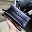 ARMANIアルマーニ 財布 コピー高品質なレザーロングジップウォレットブラックブラウン2色可選メンズ長財布