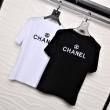 CHANEL ユニセックス tシャツ 洗練されたカジュアルスタイル シャネル 服 コピー 激安 ブラック ホワイト ロゴ入り 高品質