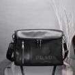 プラダ ショルダーバッグ コピー 高いデザイン性が強調 PRADA メンズ ブラック レザー ブランド 通勤通学 2019人気 お買い得