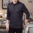 ヒューゴボス HUGO BOSS 4色可選 長袖Tシャツ 2019年秋に買うべき 着こなしに素敵なエッセンス