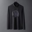 VERSACE 長袖Tシャツ メンズ 落ち着き感が漂わせる限定品 ヴェルサーチ スーパーコピー ロゴ ブラック ホワイト ストリート 安い