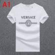 3色可選 ヴェルサーチコーデのアクセントになる  VERSACE コーデをぱっと明るく軽やかに 半袖Tシャツ