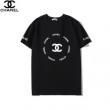 シャネル Tシャツ 通販 シックで着心地も良い コピー CHANEL メンズ ストリート ブラック ホワイト プリント ロゴ入り 激安