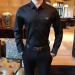 EMPORIO ARMANI シャツ デイリースタイルに似合うアイテム メンズ コピー エンポリオ アルマーニ ブラック ストリート ロゴ 最安値