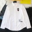 フェンディ シャツ メンズ 究極的なシンプルさで大人気 FENDI コピー ブラック ホワイト ロゴ刺繍 通勤通学 日常 格安