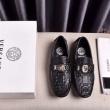 ナチュラルさん向けコーデ VERSACE ローファー ヴェルサーチ 靴 サイズ メンズ コピー ブラック 2020SS 日常 限定セール