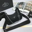 PRADA プラダ ショルダーバッグ レザー シンプルコーデに最適 レディース コピー 黒 2020限定 大容量 おすすめ 手頃価格