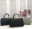 MIUMIUミュウミュウ バッグ コピーブラックグレーブルー3色が選べるハンドバッグマテラッセナッパ羊革レディースファッション
