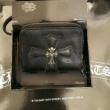 CHROME HEARTSクロム ハーツ 財布 コピー人気新作ブラックカラーレザージップウォレット使い易いシンプル財布