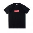 激レアなロゴアイテムSUPREMEシュプリーム  tシャツ 偽物ファッションラウンドネック半袖ブラックホワイト2色可選