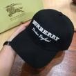 バーバリー エンブロイダリーロゴ ベースボールキャップBURBERRYブランド コピー 安い 通販 ゴルフキャップ 野球帽 黒