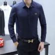 大人トレンドにぴったり アルマーニ シャツ メンズ ARMANI スーパーコピー 限定品 ブルー ホワイト ストリート 格安